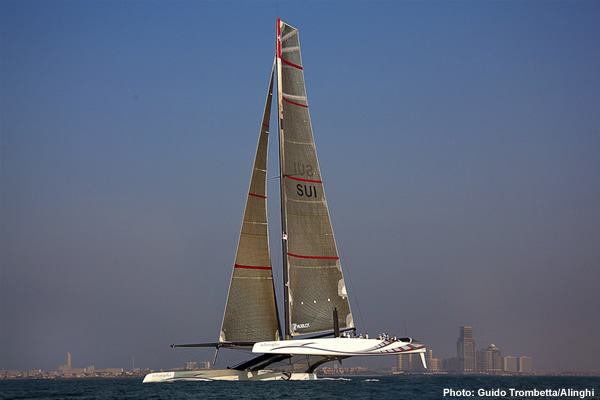 Alinghi 5 in the Arabian Gulf