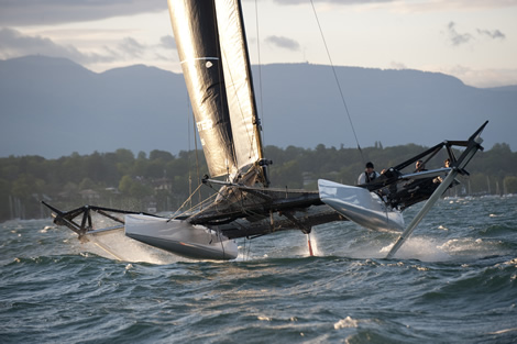 Syz and Co Catamaran on Lake Geneva