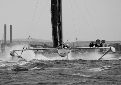 L'Hydroptere on the Solent
