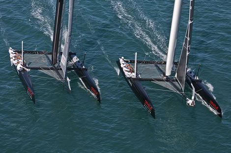 BMW Oracle AC45s out training