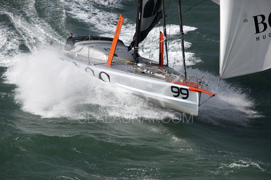 Stunning shot of Hugo Boss on a plane - I live for sailing like this!