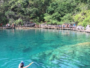 Clear waters of Kayangan Lake