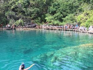 Clear waters of Kayangan Lake