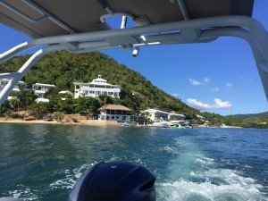 Busuanga Bay Lodge from the water